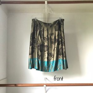 Talbots Collection - Silk A-line Skirt - size 16